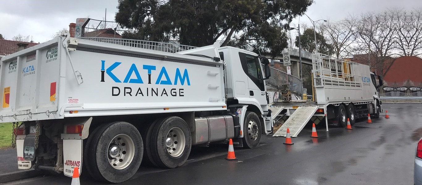 katamdrainage trucks