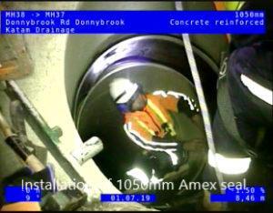 Amex seal installation.