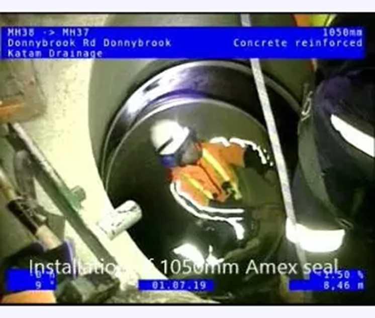 1050mm Amex seal installation by Katam Drainage staff.